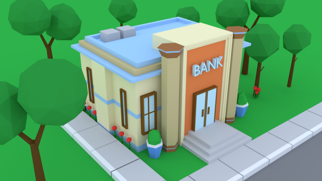 Bank created in Blender
